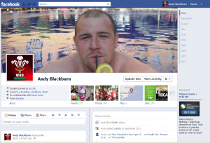 Andy's Facebook Timeline Profile