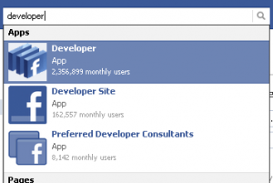 Add Facebook Developer App
